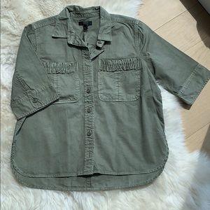 Brand New J. Crew utility shirt sz 4